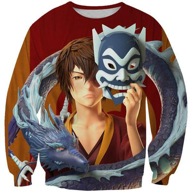 Masked Zuko Sweatshirt - Avatar the Last Airbender Clothes - Hoodie Now