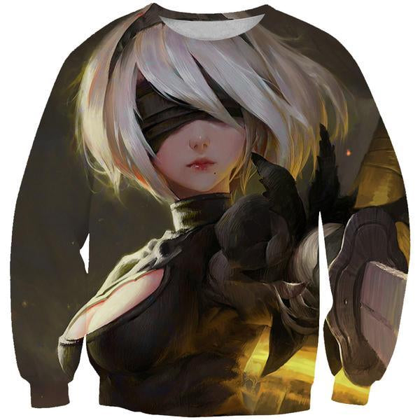 Nier Game Sweatshirt - Beautiful Nier Video Game Clothing - Hoodie Now