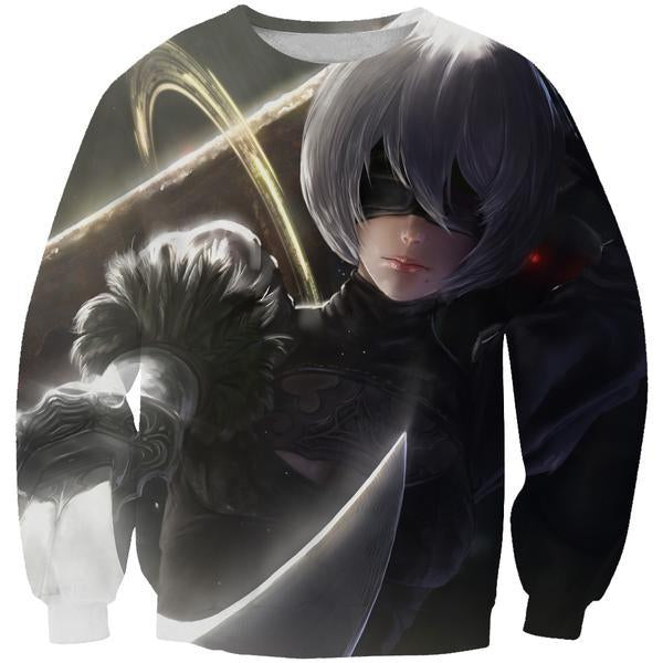 Nier Sword Sweatshirt - Video Game Clothing - Hoodie Now