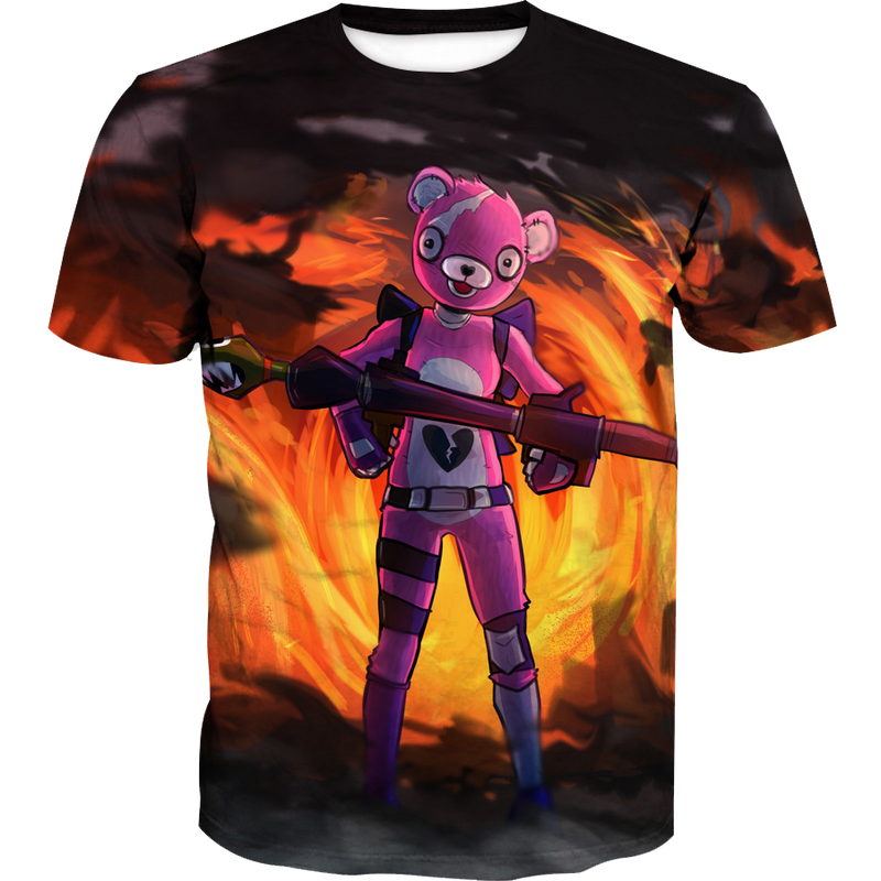 Pink Bear Skin T-Shirt - Fortnite Pink Bear Clothes - Hoodie Now