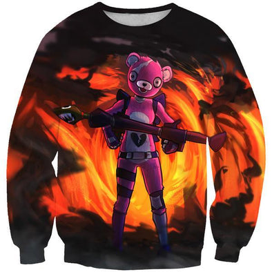 Pink Bear Skin Sweatshirt - Fortnite Pink Bear Clothes - Hoodie Now