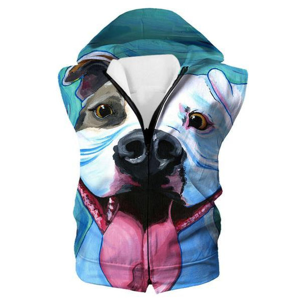Pit Bull Hooded Tank - Dog Printed Clothing - Hoodie Now