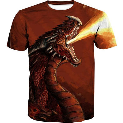 Red Fire Dragon T-Shirt - Fantasy Clothing - Hoodie Now