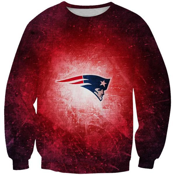 Red New England Patriots Sweatshirt - Football Patriots Clothing - Hoodie Now