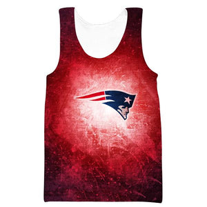 Red New England Patriots Tank Top - Football Patriots Clothing - Hoodie Now