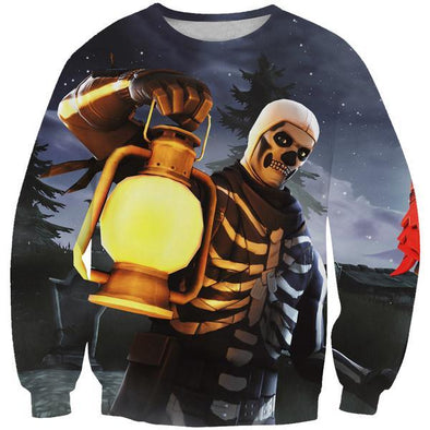 Skull Trooper Sweatshirt - Fortnite Clothes - Hoodie Now