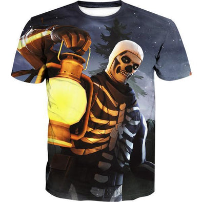 Skull Trooper T-Shirt - Fortnite Clothes - Hoodie Now