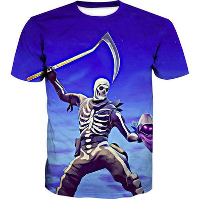 Skull Trooper and Raven T-Shirt - Fortnite Clothes - Hoodie Now