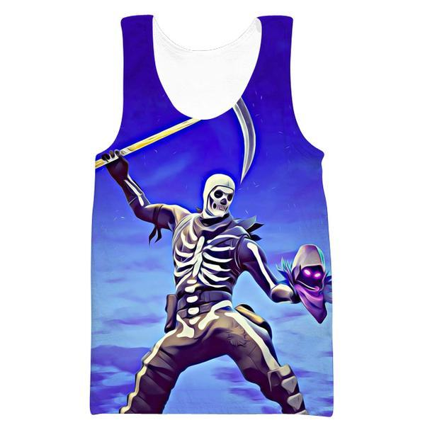 Skull Trooper and Raven Tank Top - Fortnite Clothes - Hoodie Now