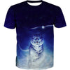 Space Tiger and Owl T-Shirt - Printed Shirts - Hoodie Now