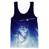 Space Tiger and Owl Tank Top - Printed Shirts - Hoodie Now