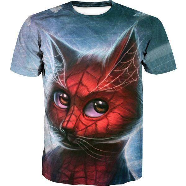 Spiderman Style Cat T-Shirt - Superhero Cat Clothing - Hoodie Now