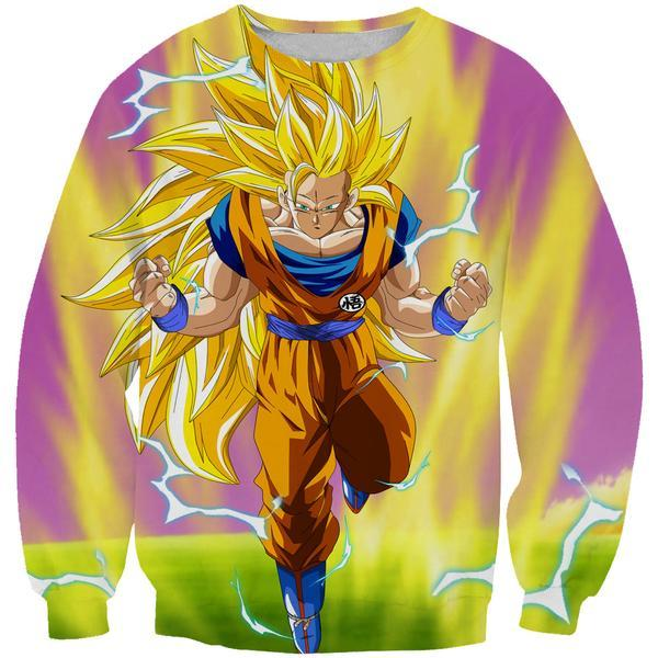 Super Saiyan 3 Goku Sweatshirt - Dragon Ball Z Sweaters - Hoodie Now