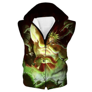 Super Saiyan Broly Hooded Tank - Dragon Ball Movie Clothes - Hoodie Now