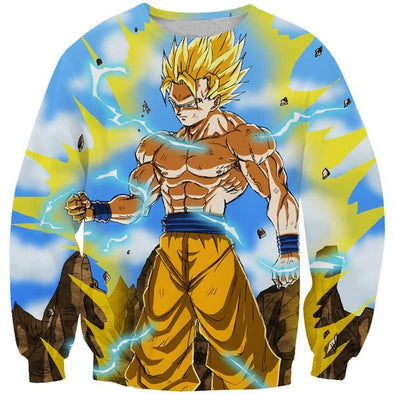 Super Saiyan Goku Sweatshirt - Dragon Ball Z Clothing - Hoodie Now