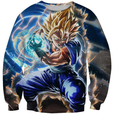 Super Saiyan Vegito Sweatshirt - Final Kamehameha Dragon Ball Clothes - Hoodie Now