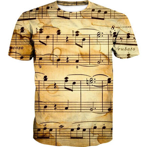 Music Sheet Shirt