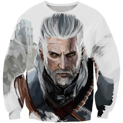 The Witcher Sweatshirt - Geralt Face Hoodie and Clothing - Hoodie Now
