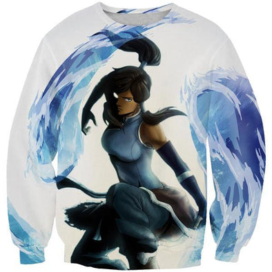 Water Bending Korra Sweatshirt - Avatar Legend of Korra Clothing - Hoodie Now