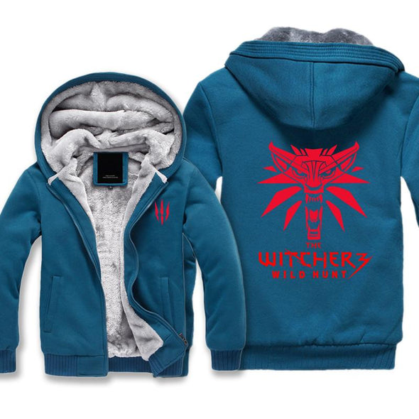 The Witcher 3 Fleece Jacket - Wolf Logo Witcher Jacket - Hoodie Now