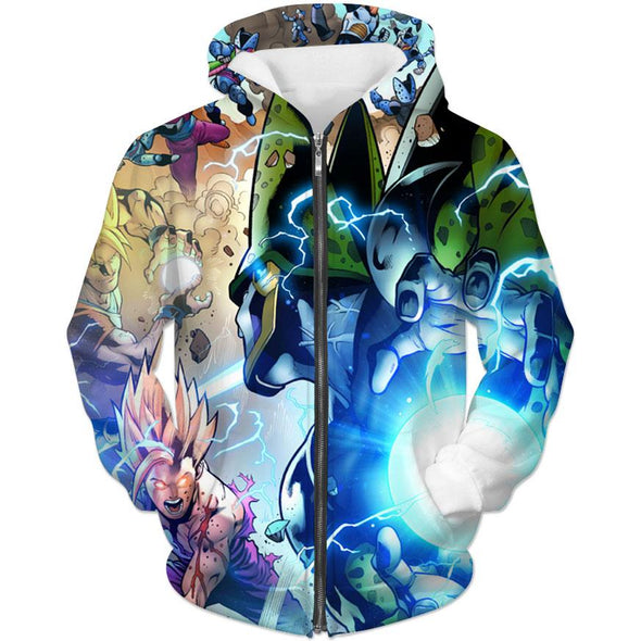 Cell vs Gohan Comic Hoodie - Dragon Ball Comic Clothing - Hoodie Now