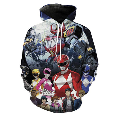 Mighty Morphing Power Rangers Hoodie