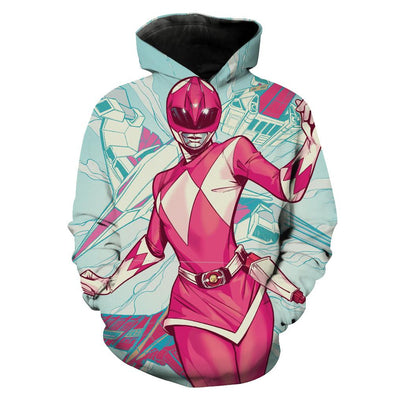 Pink Power Ranger Hoodie - Power Ranger Clothes - Hoodie Now