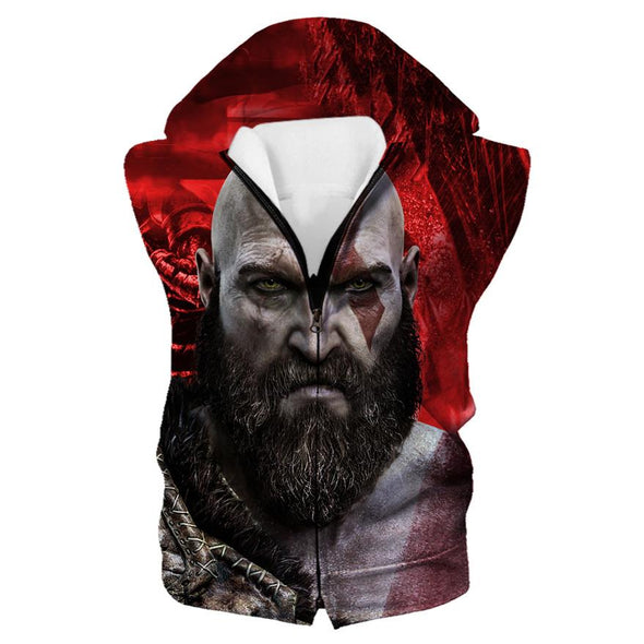 God Of War Clothing - Kratos Hooded Tank - Hoodie Now