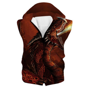 Red Fire Dragon Hoodie - Fantasy Clothing - Hoodie Now
