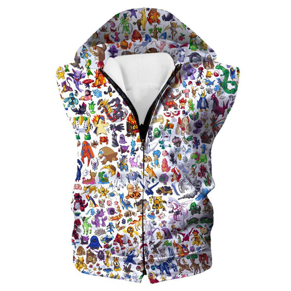 All Pokemon Hoodie - All the Pokemon Clothing - Hoodie Now