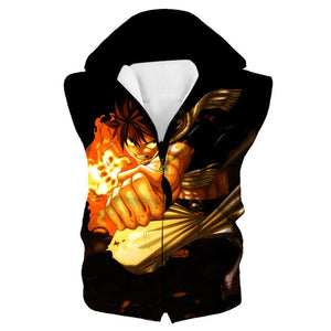 Black Fairy Tail Anime Clothes - Natsu Punch Hoodie - Hoodie Now