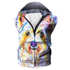 Colorful Dog Hooded Tank - Dog Printed Clothing - Hoodie Now