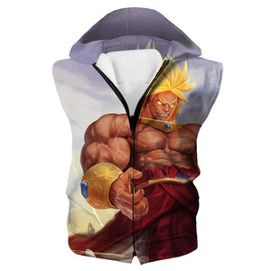 Broly Hooded Tank - Dragon Ball Super Broly Clothes - Hoodie Now