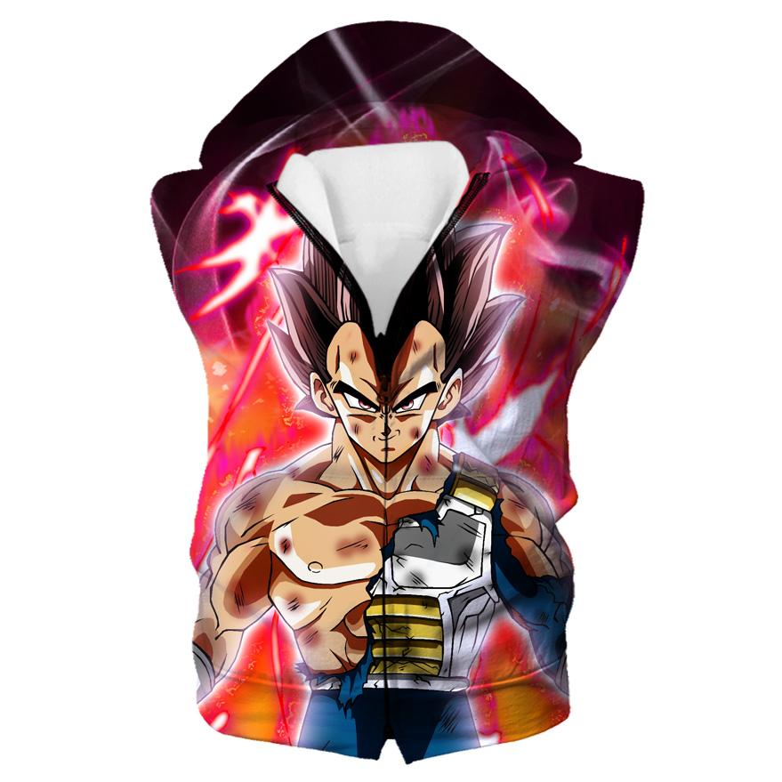 Ultra Instincts Vegeta Hooded Tank - Super Dragon Ball Clothes
