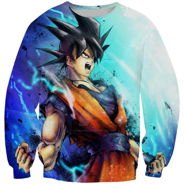 Goku Power Up Sweatshirt - Goku Dragon Ball Clothes