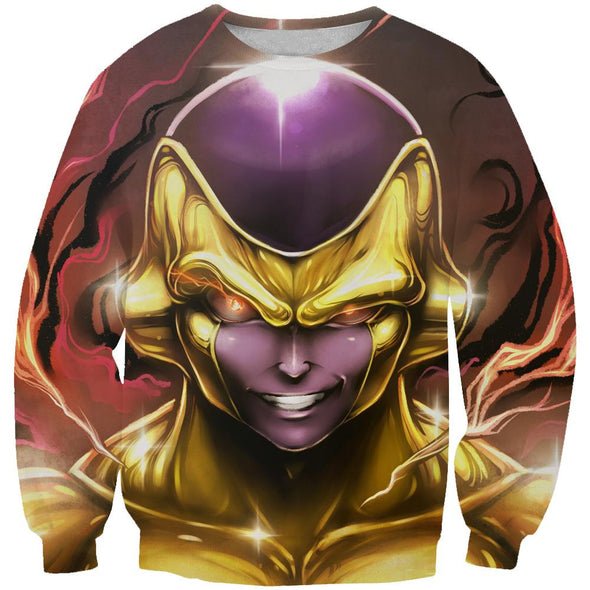 Golden Freeza Sweatshirt - Dragon Ball Super Frieza Sweaters