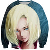 Sexy Android 18 Sweatshirt - Android 18 Dragon Ball Clothes