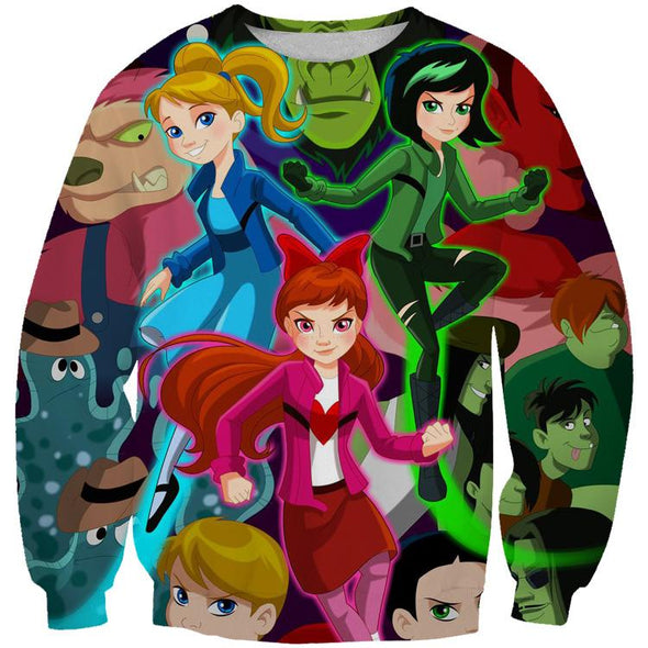 Powerpuff Girls Anime Hoodie - Cartoon Hoodies - Hoodie Now