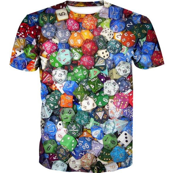Table TOp Gaming Dice Shirt