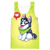 Cute Husky Tank Top - Cartoon Cute Husky Dog Clothes - Hoodie Now