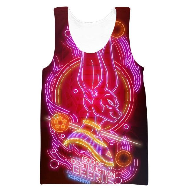 Neon Beerus Tank Top - Dragon Ball Super Neon Clothes