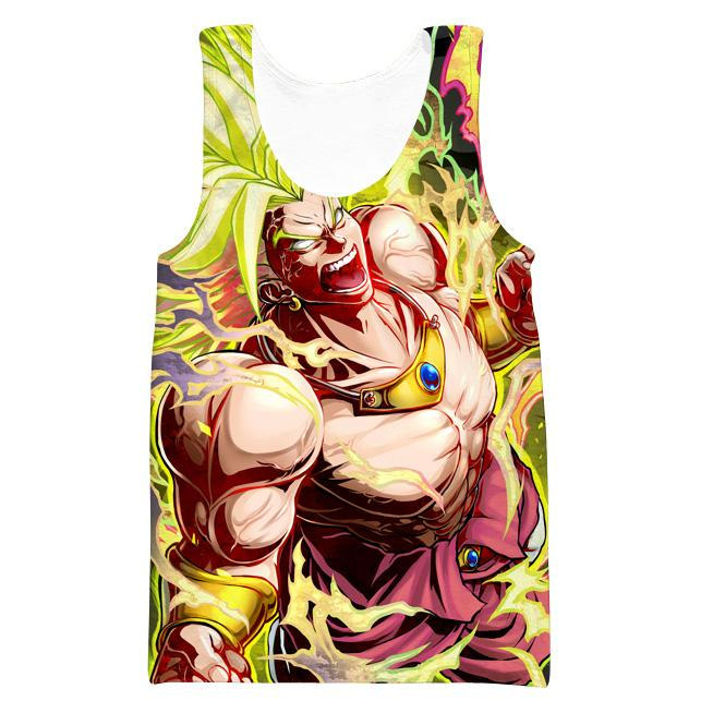 Legendary Super Saiyan Broly Tank Top - Dragon Ball Movie Clothing
