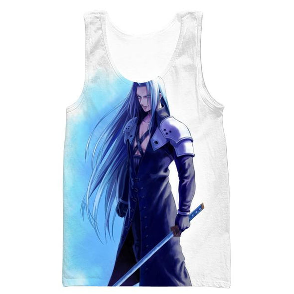 Sephiroth Hooded Tank - Final Fantasy Clothes - Gaming Clothing - Hoodie Now
