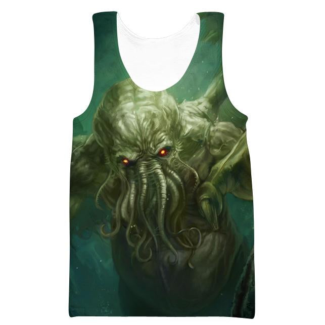 Charging Cthulhu Tank Top - Nerd Gaming Cthulhu Clothes - Hoodie Now
