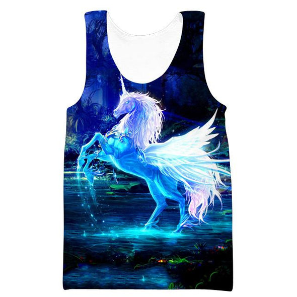 Beautiful Unicorn Hooded Tank - Fantasy Clothing - Hoodie Now