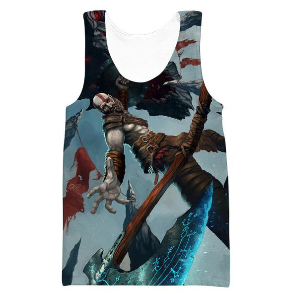 Kratos T-Shirt - God of War Clothes - Hoodie Now
