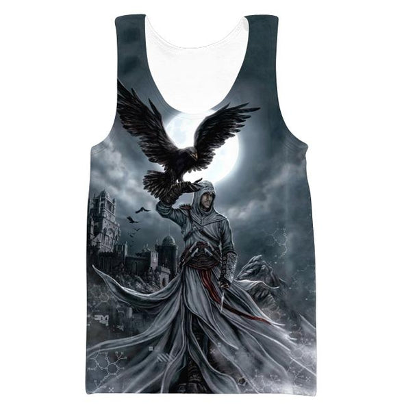 Assassins Creed Hooded Tank - Raven Hoodie - Hoodie Now