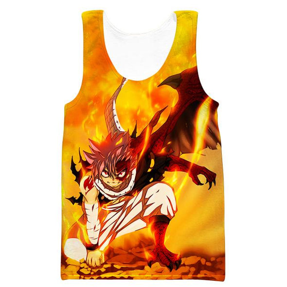 Dragon Natsu Hooded Tank - Fairy Tail Clothes - Hoodie Now