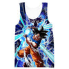 Ultra Instincts Goku Kamehameha Tank Top - Dragon Ball Super Clothing