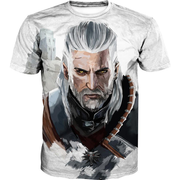 The Witcher T-Shirt - Geralt Face Hoodie and Clothing - Hoodie Now